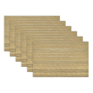Metallic Basketweave Placemat (Set of 6)