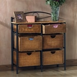 Wicker 6-drawer Storage Chest