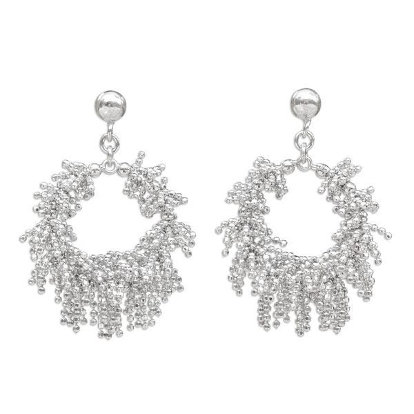 Sterling Silver Dangle Earrings, 'Snow Again' (Thailand) 26881398