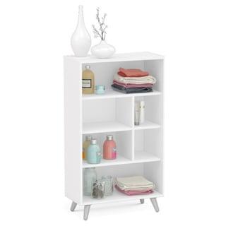 Boahaus White 51-inch 6-open-shelf Bookcase