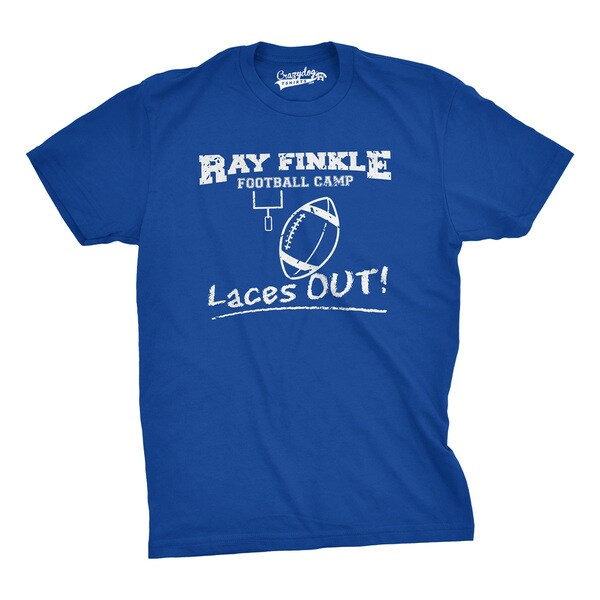 Ray Finkle Football Camp T Shirt Ace Ventura Movie Shirts - Blue 26886169