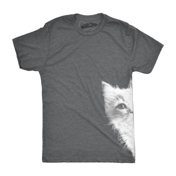 Mens Peek a Boo Kitty Funny Cat Face Crazy Cat Lover Adorable Kitten T shirt 26886895