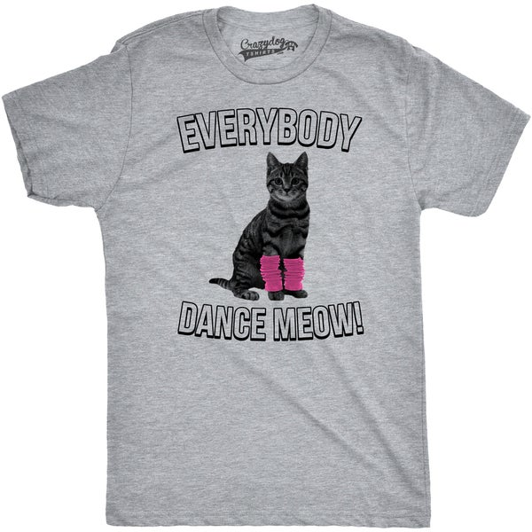 Mens Everybody Dance Meow T Shirt Cute Funny Cat Kitten Tee 26894252