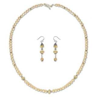 Pearl and Citrine Jewelry Set, 'Pink Lemons' (Thailand) 26915365