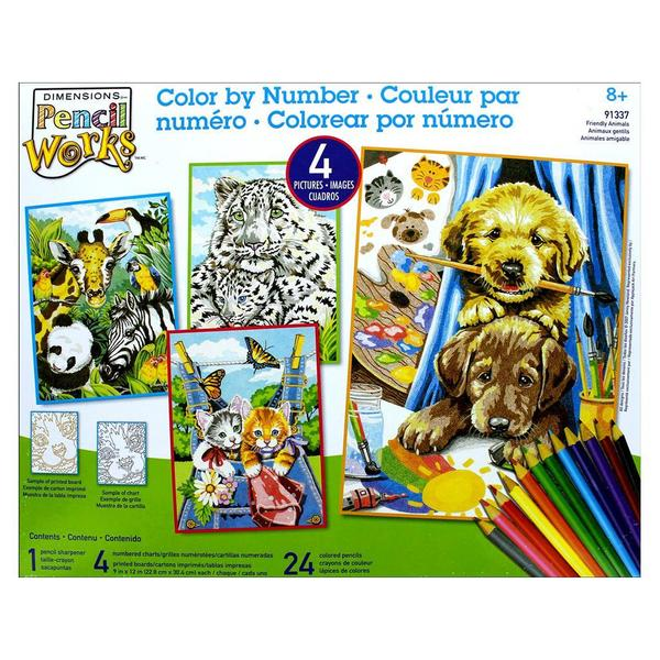 Paintworks Color By Number 9x12 Friendly Animals 26920716