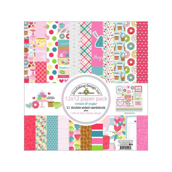 Doodlebug Cream & Sugar Paper Pack 26921306