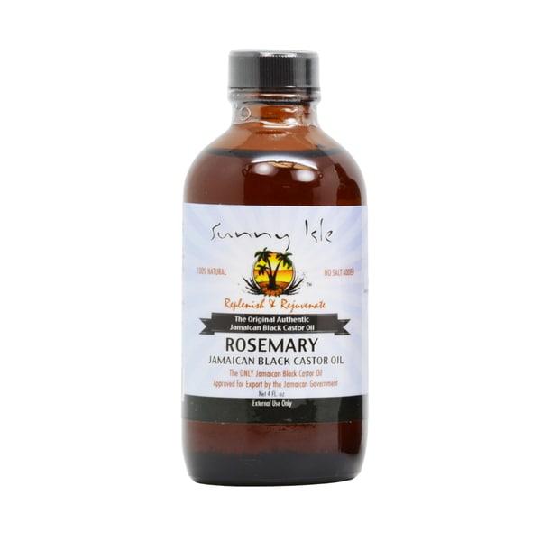 Sunny Isle Rosemary 4-ounce Jamaican Black Castor Oil with Applicator
