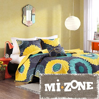 Mi Zone Iris Floral 4-piece Coverlet Set