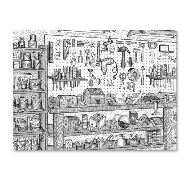 Not-Wolf-Productions 'Dad's Workbench' Canvas Art 27038970