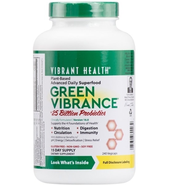 Vibrant Health Green Vibrance (240 Vegtable Caplsules) 27041079