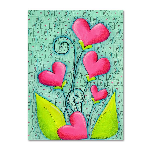 Maureen Lisa Costello 'Heart Bouquet' Canvas Art 27042392