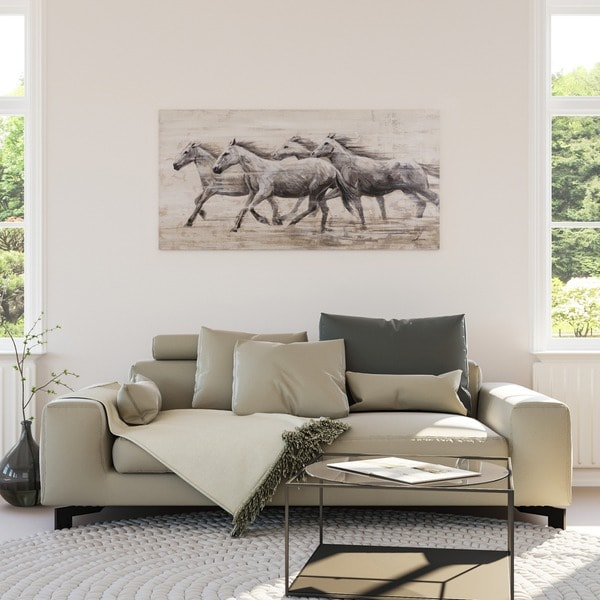 Yosemite Home Decor Horses In The Wind Original Hand-Painted Wall Art 27045097