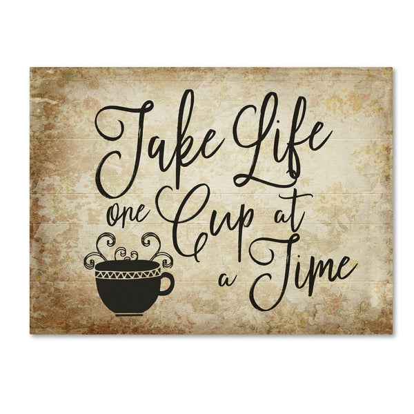 Marcee Duggar 'One Cup A Time' Canvas Art 27045292