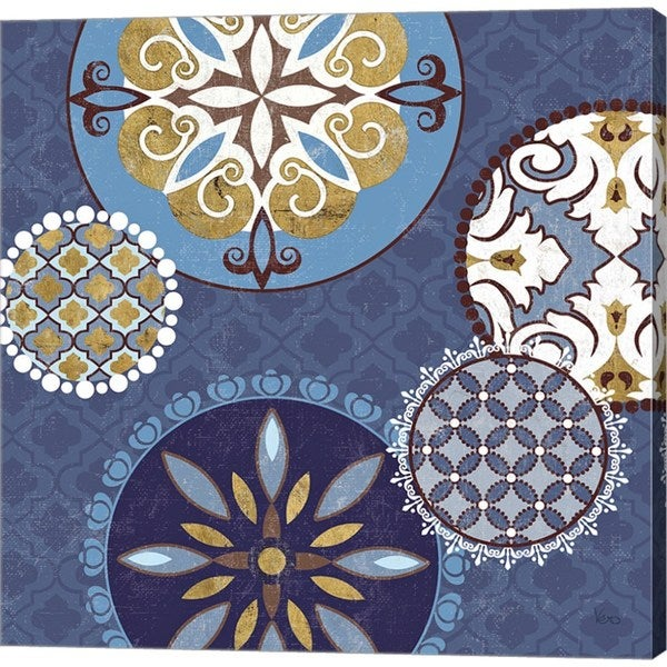 Veronique Charron 'Mediterranean Blue II' Canvas Art 27047309