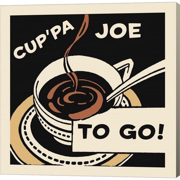 Retro Series 'Cup'Pa Joe To Go' Canvas Art 27049996