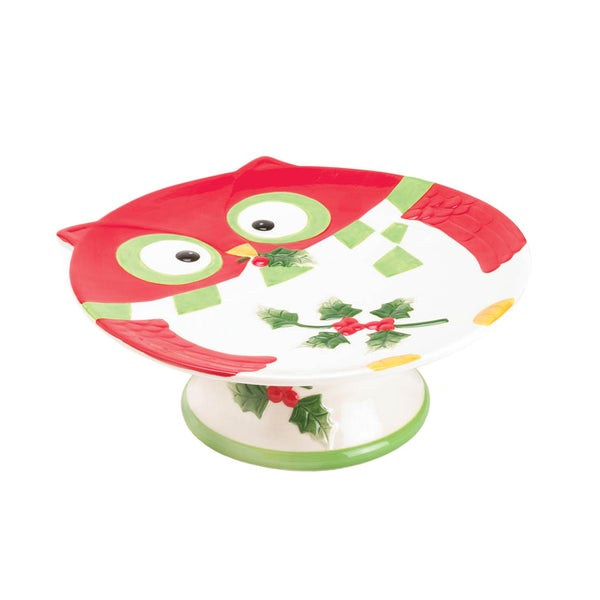Koehler Home Decor Holiday Hoot Cake Stand 27059394