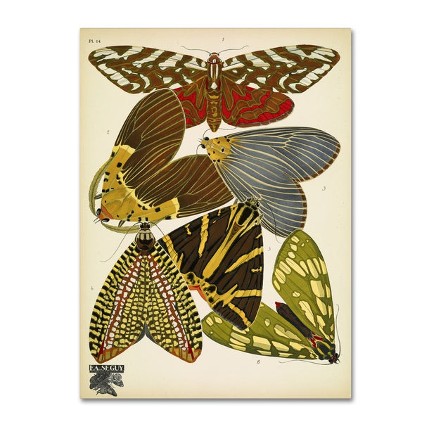 Vintage Apple Collection 'Papillons 14' Canvas Art 27059932