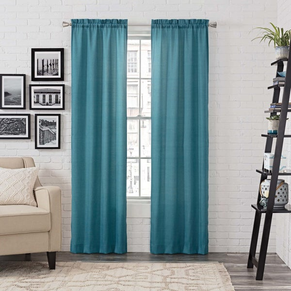Pairs to Go Teller Rod Pocket Curtain Panel Pair 27061221