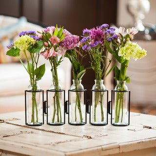 "Danya B. 8"" Hinged 5 Bottle Vase"