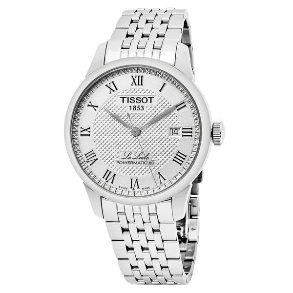 Tissot Men's T006.40.71.10.33.00 'Le Locle' Silver Dial Stainless Steel Swiss Mechanical Watch 27077232