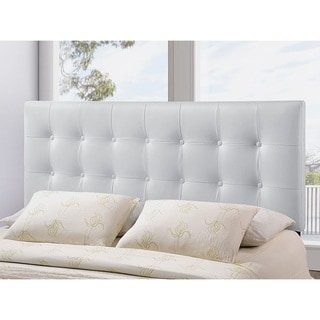 Heritage Stylish White Upholstered Queen Size Headboard