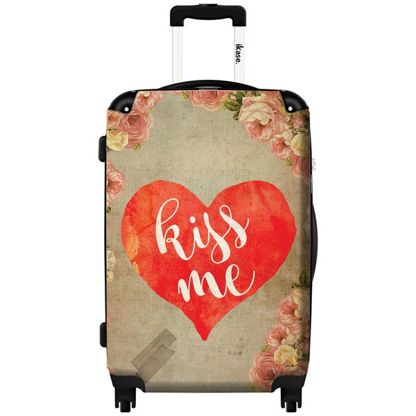 IKase Kiss Me by Elo Marc Multicolored   20-inch Hardside Carry-on Spinner Suitcase 27095432