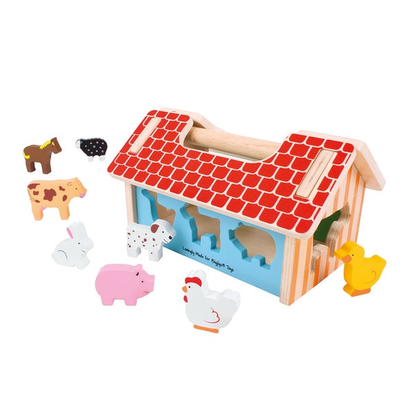 Bigjigs Toys Farmhouse Sorter 27098128