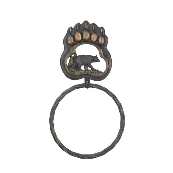Koehler home decor Black Bear Paw Towel Ring 27109721
