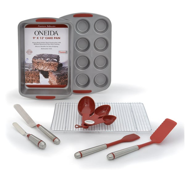 Oneida Silicone 8-Pc Brownie/Cupcake Bakeware Set 27115646