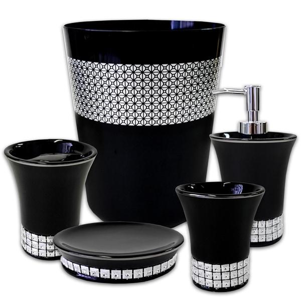 Glam 5 Piece Bath Accessory Set or Separates 27115691