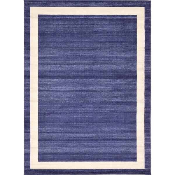 Del Mar Border Navy Blue/Off-white Area Rug (8' x 11'4) 27116207