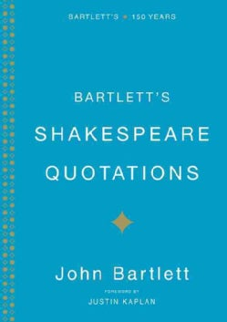 Bartlett's Shakespeare Quotations (Hardcover)