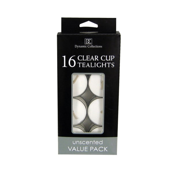 Koehler Home  Decor  White Clear Cup Tealights 27134552