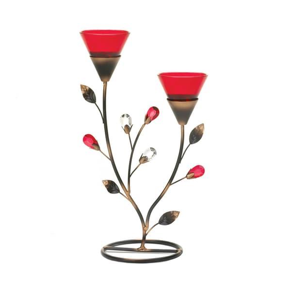 Koehler Home Decor Ruby Blooms Iron Candleholder 27134558