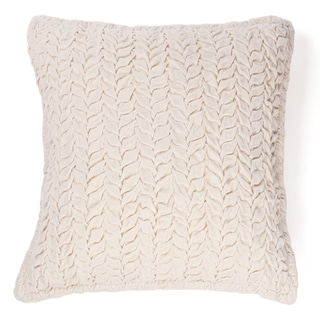 Allie Ivory Cotton Velvet Decorative Throw Pillow