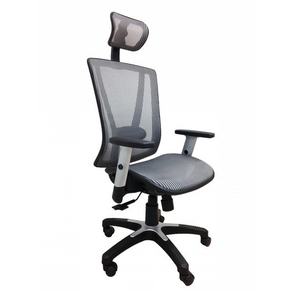 Fully Meshed Ergo Office Chair with Headrest (Grey) 27140075