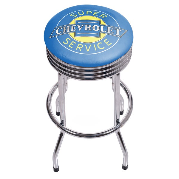 Chevrolet Chrome Ribbed Bar Stool - Super Service 27140102