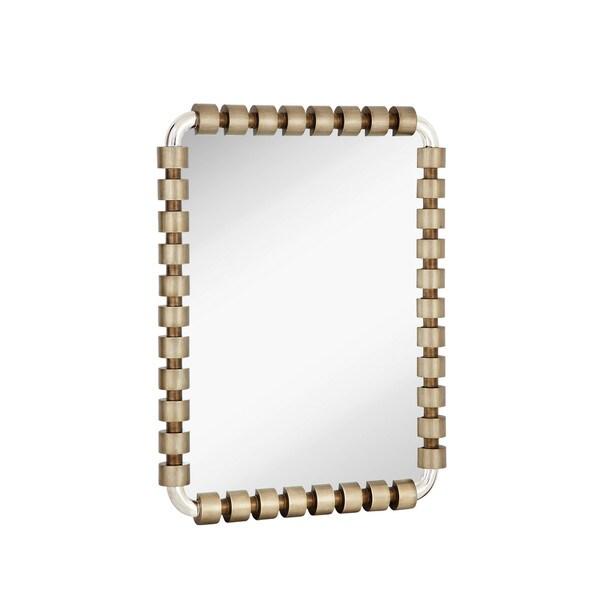 Stylish Rectangular Silver/Chrome Glass Wall Mirror 27140625