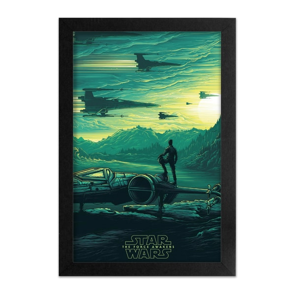 Pyramid America 'Star Wars: The Force Awakens - Poe Dameron' Framed Print 27143271