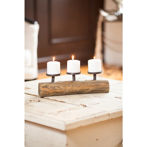 Danya B. Triple Candle Holder on Log 27143301