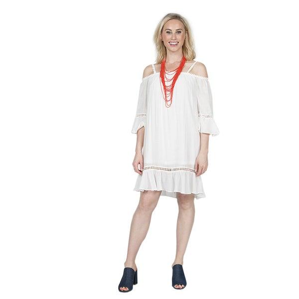 Xehar Women's Off Shoulder Ruffle Mini Dress 27163369