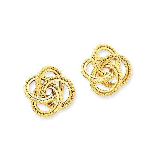 14 Karat Polished & Twisted Love Knot Post Earrings 27174537