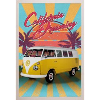 VW Cali Retro' White Plastic Framed Poster 27182146