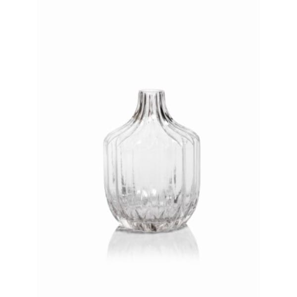 9-Inch Tall Astrud Short Neck Ribbed Glass Vase 27182222