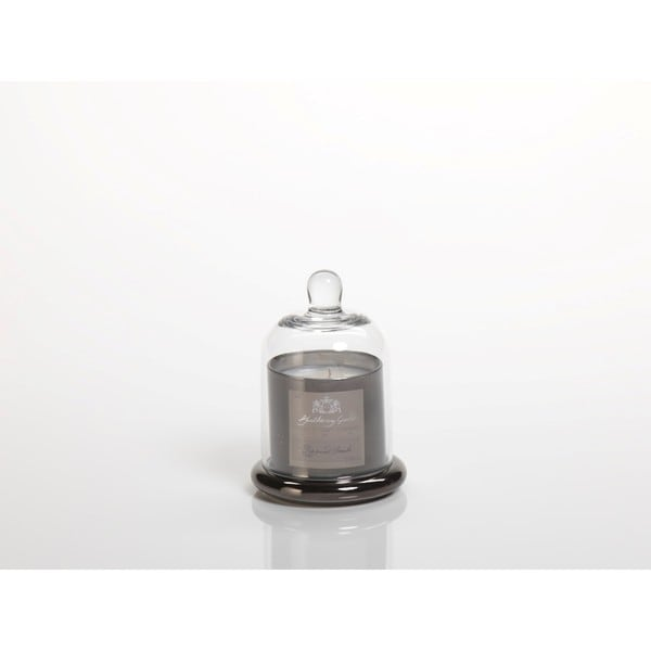 2-Piece Peppered Smoke Scented Candle in Glass Jar with Bell Cloche Set, Small 27182452