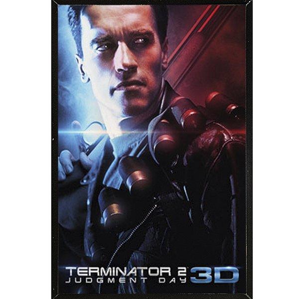 Terminator 2' Black Thin Framed Poster 27184441