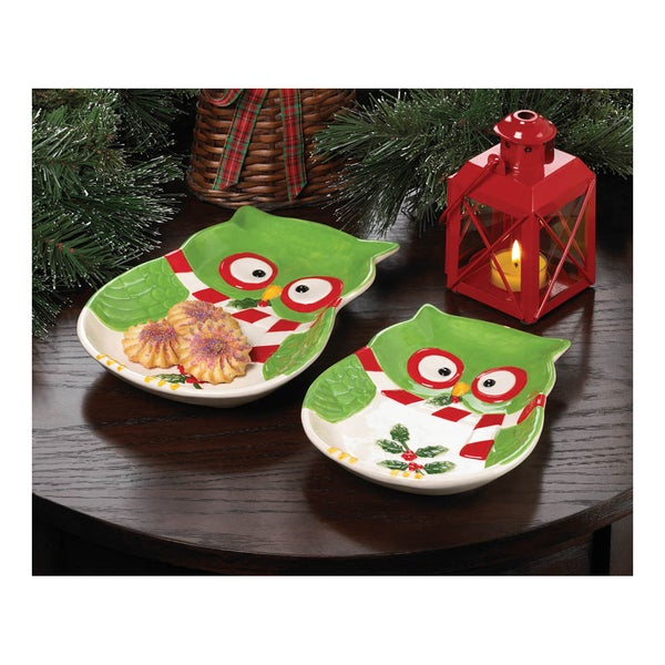 Koehler Home Decor Holiday Hoot Large Plate 27210168