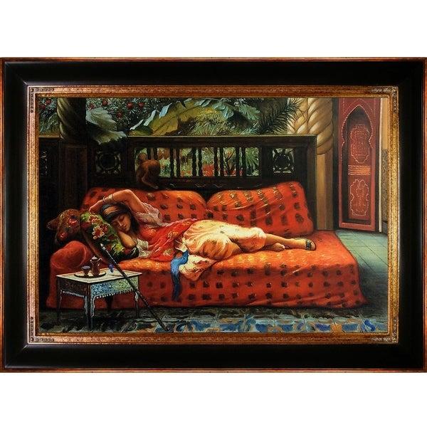 Frederick Arthur Bridgman 'The Siesta' Hand Painted Framed Oil Reproduction on Canvas 27238568