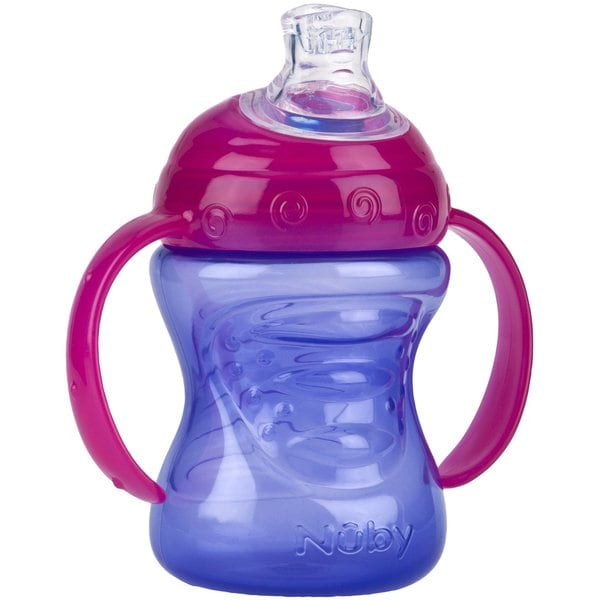 Nuby Purple/Pink 8-ounce 2-Handle Cup with No-Spill Super Spout 27238961
