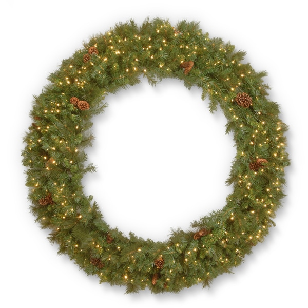 "60"" Garwood Spruce Wreath with Warm White LED Lights 27251896"